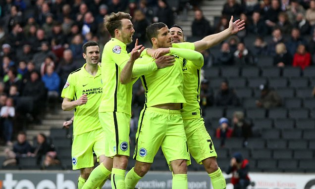 Milton Keynes Dons v Brighton and Hove Albion - Sky Bet Championship - Stadium:mk